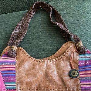 The Sak Boho Mixed Pattern Bucket Bag